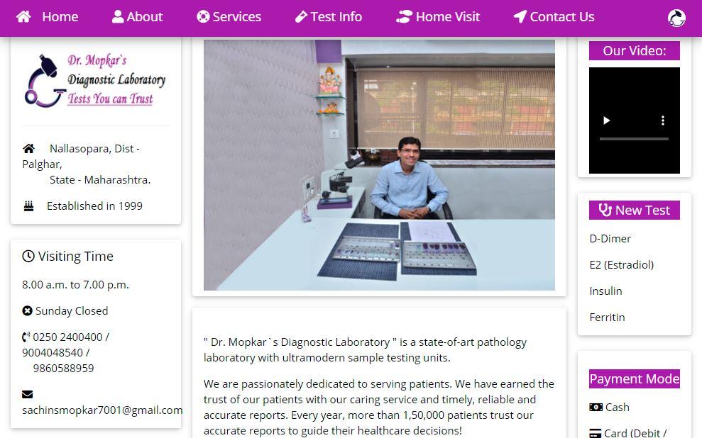 Dr. Mopkar`s Diagnostic Laboratory
